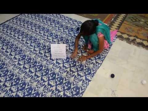 Making of Blue Ikat Kantha- For Etsy