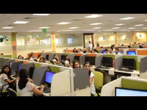 Office management apply new idea to release stress in corporate world... dance for 5 minutes..