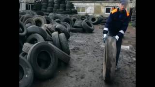 Recycling Old Tires Into Rubber Tile