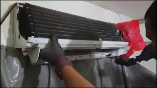 DIY cuci ac sharp anti bocor free leak secara profesional
