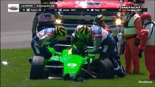 IndyCar Series Indianapolis 500 2018 Danica Patrick Crashes