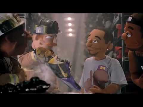 Kobe Bryant  Lebron James Puppet Commercial - ''Shoes On Fire''