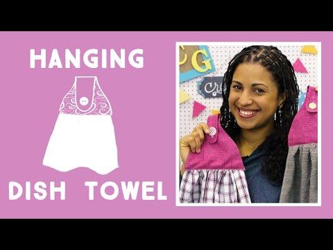 Make an Easy Hanging Kitchen Towel