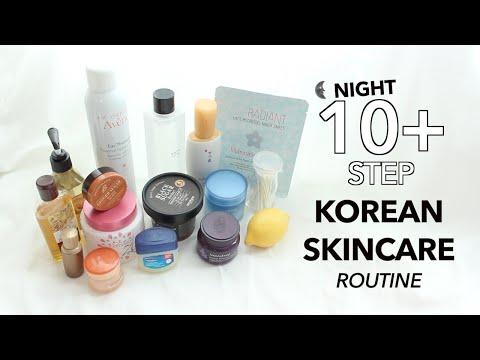 10 Step Korean Skincare Routine | Nighttime🌙