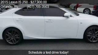 2015 Lexus IS 250 4dr Sport Sedan Automatic RWD for sale in