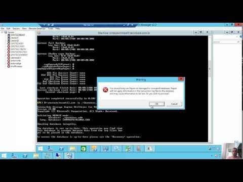 Backup e Restore em um Microsoft Exchange Server 2013 com o Microsoft Windows Backup
