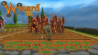Wizard101 69 Medium Plot Evil Magma Pea Glitch Garden Bed Easy Mega Snacks The Best