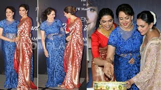 When Rani Padmavati aka Deepika Padukone meets Dreamgirl Hema Malini for first time😊