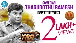 Thagubothu Ramesh Exclusive Interview    Frankly With TNR #55    Talking Movies With iDream #306