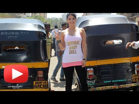Ragini MMS 2 | Sunny Leone 's Auto Rickshaw Promotion