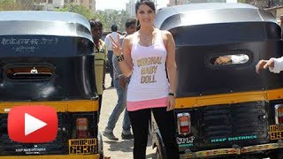 Ragini MMS 2   Sunny Leone 's Auto Rickshaw Promotion