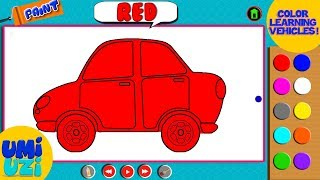 Umi Uzi | Learn Colors | Coloring With Vehicles | Colors Song | Children