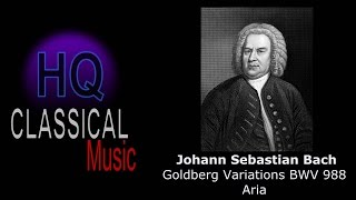 BACH - Goldberg Variations BWV 988 Aria (Hannibal theme) - High Quality Classical Music Piano
