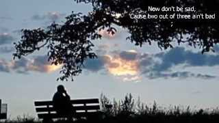 Two Out of Three Ain't Bad by MEAT LOAF  w/lyrics