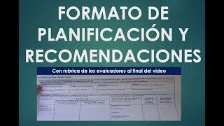 Soy Docente: MOMENTO 1: FORMATO DE PLANIFICACIÓN (CON SORPRESA AL FINAL DEL VÍDEO)