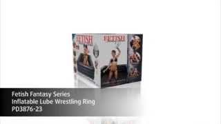 Fetish Fantasy Series Inflatable Lube Wrestling Ring Product Demo