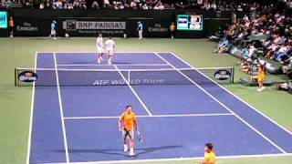Rafael Nadal & Marc Lopez Doubles At Indian Wells March 13, 2011