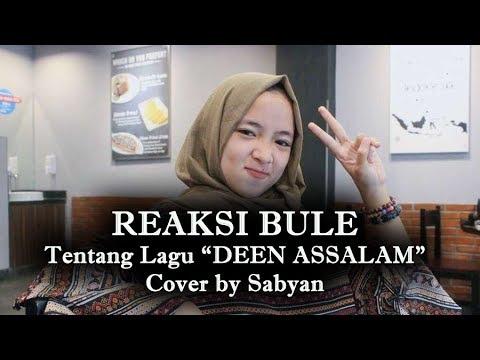 "(SABYAN) REAKSI BULE tentang lagu ""DEEN ASSALAM Cover by SABYAN"""