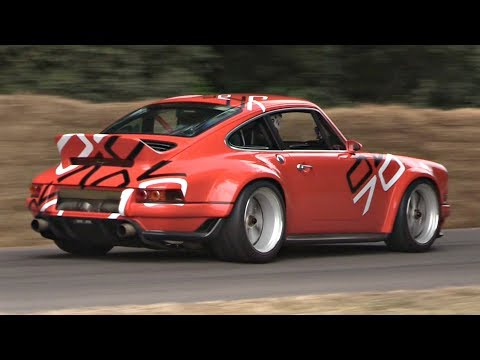 NEW Porsche 911 Singer DLS 4.0 NA Flat Six 9000rpm by Williams F1 INCREDIBLE Sound Goodwood FOS