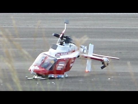 RC HELICOPTER CRASH !!! SCALE RC BELL-206 JETRANGER / Modellflieger Show Gatow 2014 *1080p50fpsHD*