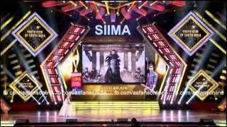 Allu Arjun at SIIMA Awards 2015 YOUTH ICON OF SOUTH INDIA