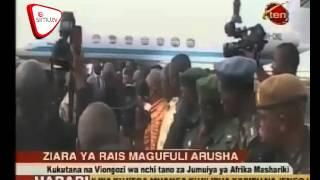 Rais Magufuli  Afanya Ziara Arusha