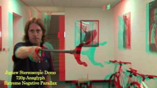 Jigsaw Stereoscopic Demo 720p Extreme Negative Parallax