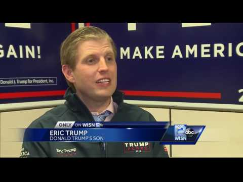 Eric Trump visits Wisconsin