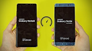 Samsung Galaxy Note 8 vs Note FE (Note 7) - Speed Test! (4K)
