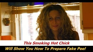 Hot Girl Shows How To Use SweetPee Synthetic Urine Step-by-Step
