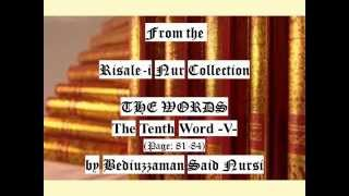 From the Risale-i Nur Collection; THE WORDS - The Tenth Word -V- (Page:81-84) by Said Nursi