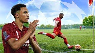 TRENT ALEXANDER-ARNOLD SNEAKY CORNER IN REAL LIFE! 😂 | Liverpool 4-0 Barcelona
