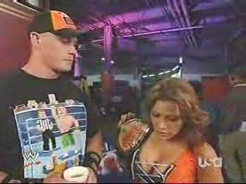 Mickie James asks John Cena out 5 12 08