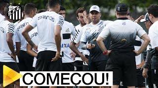 Jair Ventura inicia trabalhos no Santos FC