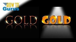 How to do a Metallic Gold Text Effect Adobe Photoshop Tutorial CS6 CS5 CC