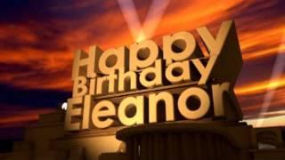 Happy Birthday Eleanor