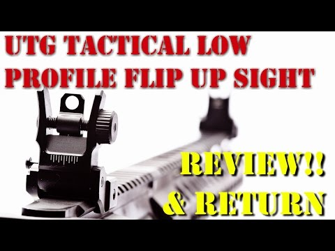 NEW!! UTG Tactical Low Profile Flip Up Sight Review and Install