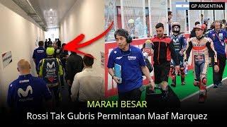 MARAH BESAR! Rossi Tak Gubris Permintaan Maaf Marquez