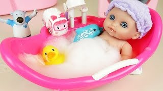Baby Doll Bath with dolphin and Poli toys more Kinder Joy Surprise eggs