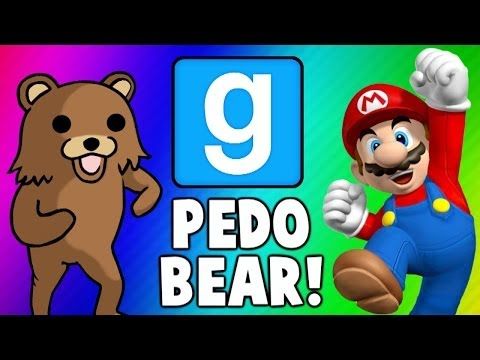 Gmod Escape PedoBear - Super Mario Tryout Frustration (Garry's Mod Funny Moments & Fails)