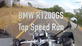 BMW R1200GS Air Cooled, Top Speed Run
