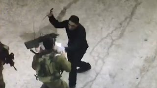 Palestinian terrorist shot dead while attacking Israeli soldiers, Hebron, September 17 2016