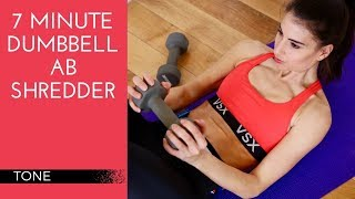 7 Minute Dumbbell Ab Shredder   Ab Workout