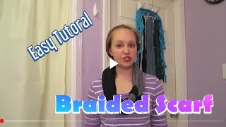 How to Make a Braided T-shirt Scarf