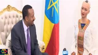 Ethiopia:ጠ/ሚ አብይ ሶፊያን በቢሯቸው አናገሩ Sophia The Robot Meets Ethiopian PM