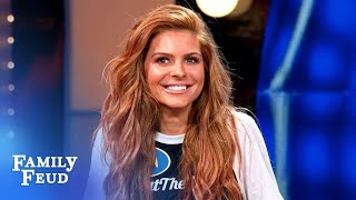 Miracle answer earns a hug from Maria Menounos! | Celebrity Family Feud