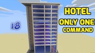 ✔Minecraft Bangla | HOTEL ONLY ONE COMMAND #1 (Bangla Tutorial)
