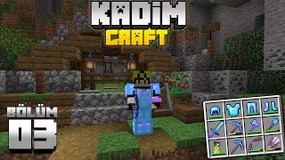 Kadimcraft 1: Bölüm 3 - BİR GARİP MADEN MACERASI ve GELİŞMELER !!