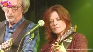 Rosanne Cash with John Leventhal at Shrewsbury Folk Festival 2016