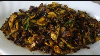 Karela Onion Fry - How to cook Onion Karola Fry - Bengali Recipe